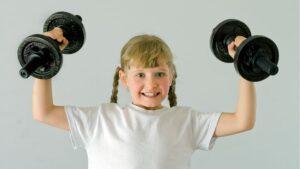ejercicios con mancuernas para niños